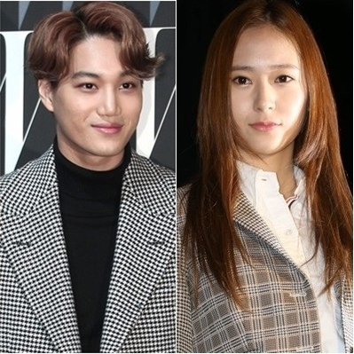 EXOのカイ(左)とf(x)のクリスタル(右)