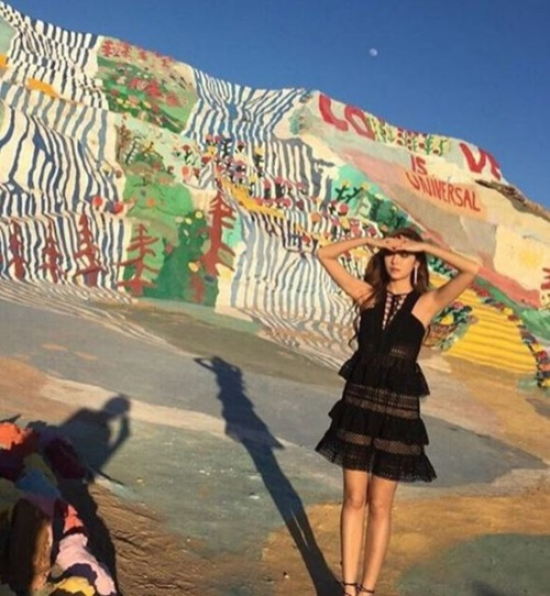 ジェシカのPV撮影現場の様子(写真=本人のインスタグラム)