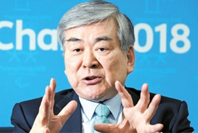 最近、韓進海運が流動性危機に直面したことを受け、趙亮鎬・韓進グループ会長が平昌オリンピック組織委員長を辞任した。
