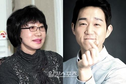 女優のイ・スナ(左)と俳優のチェ・ソンウォン