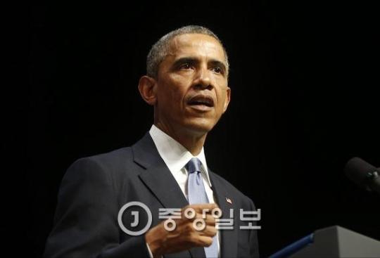 オバマ米大統領(中央DB)