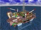 サムスン重工業がINPEXから受注した海洋ガス処理設備鳥瞰図図。