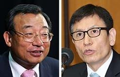 李貞鉉(イ・ジョンヒョン)議員(左)、金時坤(キム・シゴン)前KBS報道局長(右)