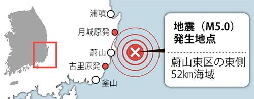地震の発生地点