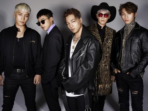 BIGBANGは韓国の歌手として初めて米国フォーブスが選んだ「セレブリティ100」に名前を入れた。左側からV.I、G-DRAGON、SOL、T.O.P、D-LITE。(写真=YGエンタテインメント)