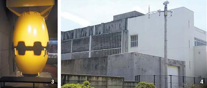 3:長崎に投下された原爆ファットマンの模型。4:尹東柱が投獄されていた福岡拘置所。
