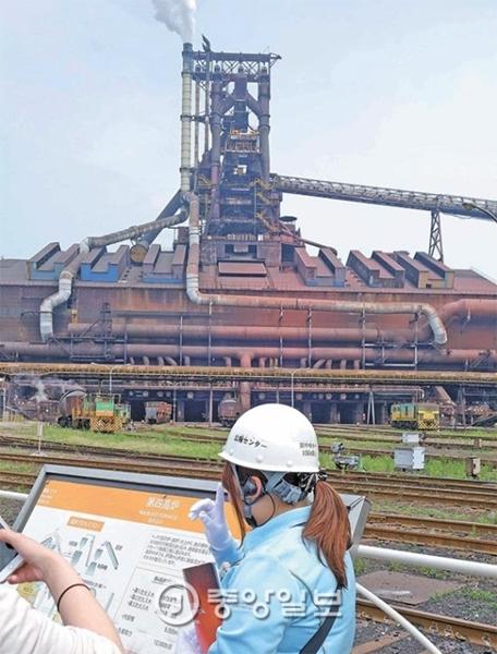 新日鉄住金の君津製鉄所第4高炉。内部容積(5555立方メートル)が世界で4番目に大きい。