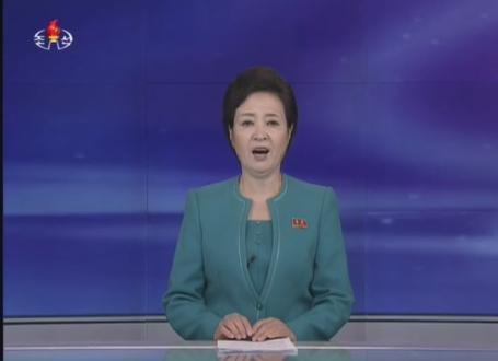 朴槿恵大統領に対する非難を浴びせる19日の朝鮮中央テレビ(写真=朝鮮中央テレビキャプチャー)
