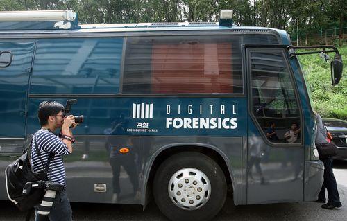 大検察庁国家デジタルフォレンシックセンターが2008年5月から運用している移動式フォレンシック車両はデータ復元作業に活用される。(写真=中央フォト)