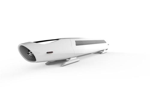 ハイパーチューブ車両のイメージ図(写真=UNIST)