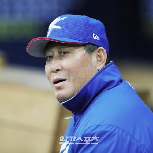 韓国野球代表チームの金寅植監督。