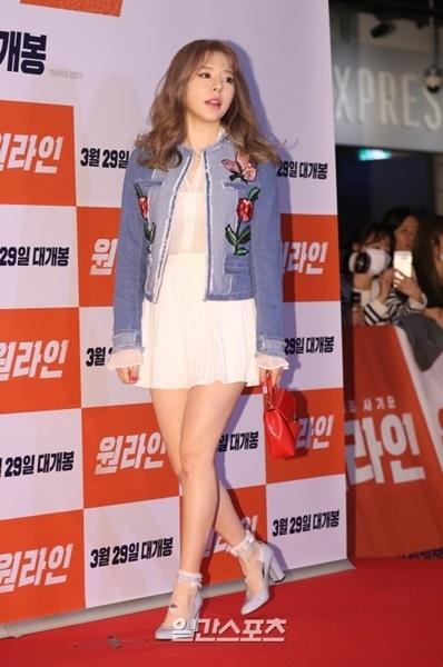 23日、映画『ワンライン』VIP試写会が行われたソウル江南区奉恩寺路メガボックスCOEXでポーズを取っている少女時代のサニー。