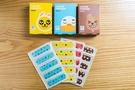 韓国の国民的キャラクターと言っても過言ではない「KAKAOフレンズ」の絆創膏(20枚、1,000ウォン)もダイソーで購入できます。パッケージのかわいさはもちろん、中には4種類のかわいい絆創膏が入っています。