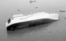 2014年4月16日当時、珍島沖で沈没中のセウォル号の様子。(写真=中央フォト)