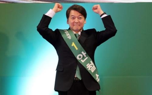 「国民の党」の安哲秀大統領候補。
