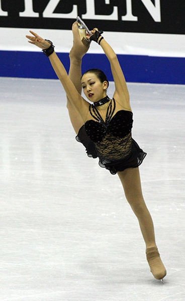 2008年、韓国高揚市で開かれたグランプリファイナルに出場した浅田真央。(写真=中央フォト)