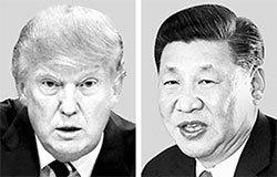 ドナルド・トランプ米大統領(左)、習近平中国国家主席(右)。