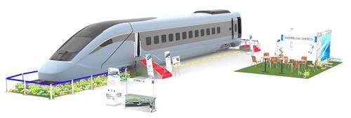 一般市民を対象に公開された韓国型動力分散式高速車両模型(写真=KORAIL)