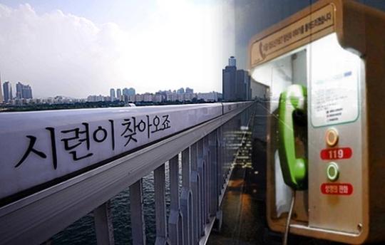 韓国の人口10万人当たり自殺者数がEU平均の2.6倍に上ることがわかった。麻浦大橋の欄干に書かれている自殺防止メッセージ。(写真=中央フォト)