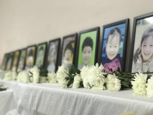 事故で死亡した幼稚園児の写真