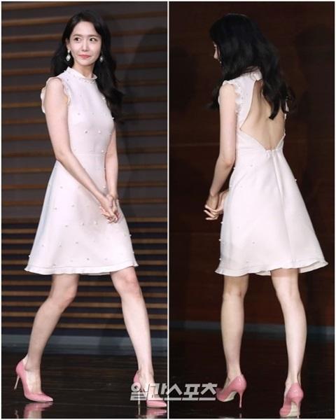 3日、ソウル麻浦区上岩洞MBC新社屋で開かれた新月火ドラマ『王は愛する』(原題)の制作発表会に登場した少女時代のユナ。