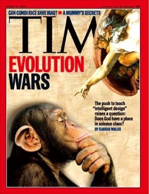 進化論をめぐる論争を扱ったタイム誌の表紙