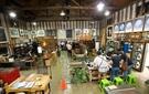 全羅北道完州郡「参礼文化芸術村」にあるキム・サンリム木工所。