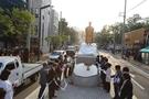 大邱中区にある純宗皇帝銅像。(写真=大邱中区)