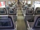 KTX-山川のスナックバーを取り壊して新しく設置した座席。椅子の後に網がついているのが既存の座席と違う。
