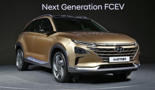 現代自動車は17日、ソウルの「水素電気ハウス」でメディア説明会を開き、次世代水素電気車を世界で初めて公開した。(写真提供=現代自動車)