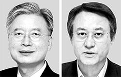 趙潤済氏(左)と李洙勲氏