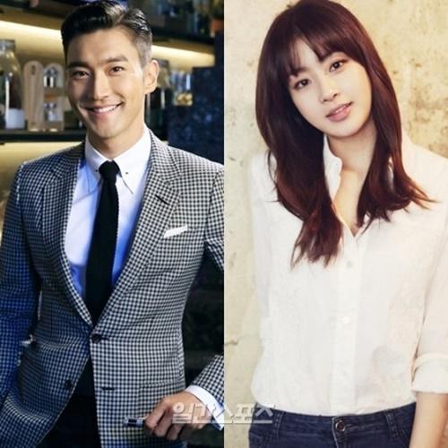 ドラマ『ビョンヒョクの恋』(原題)にキャスティングされたSUPER JUNIORのシウォン(左)と女優のカン・ソラ