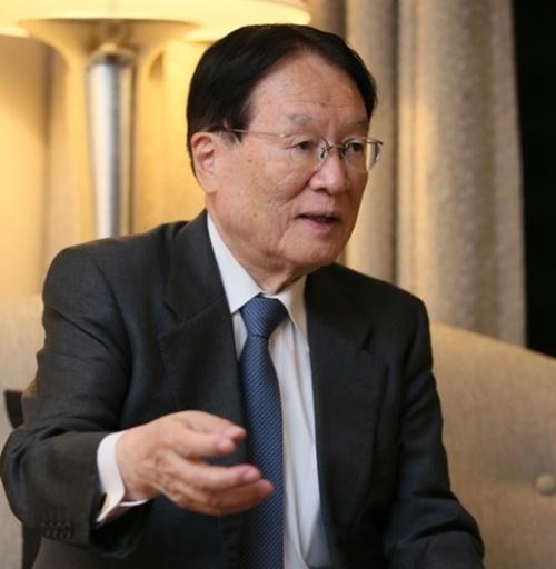 日本の森本元防衛相が今月6日に中央日報とソウルで単独インタビューを行った。(写真=国防部提供