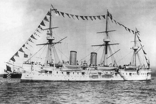 日露戦争中だった1905年、鬱陵島近海に沈没したロシアの巡洋艦「ドミートリー・ドンスコイ」。(写真=中央フォト)