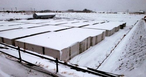 低レベル核廃棄物20万ドラムを処理できる第1号処理場。六ヶ所再処理工場。(写真=中央フォト)