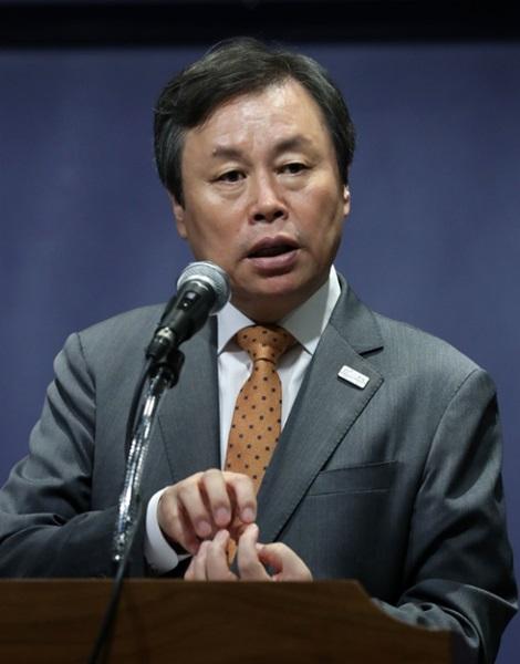 26日、就任100日記者懇談会で発言する都鍾煥長官。(写真=文化体育観光部)
