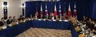 9月21日に米ニューヨーク市内のホテルで文在寅大統領がトランプ米大統領、安倍晋三日本首相とともに行った韓日米3カ国首脳会談で冒頭発言をしている。文大統領就任後に韓日米首脳が一堂に会するのは7月のG20首脳会議当時トランプ大統領の招きで3カ国首脳会談を行ったのに続き2度目だ。この日の会談で3カ国首脳は北朝鮮の核共助と関連して議論した。(写真=青瓦台写真記者団)