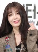 21日午後、ソウル江南区論硯洞のインペリアルパレスソウルで開かれたJTBCドラマ『アンタッチャブル』制作発表会に登場した女優のチョン・ウンジ。