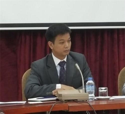 ベトナム外交アカデミー対外政策戦略研究所のトゥ・アィン・トゥアン副所長。(写真=外交部共同取材団)