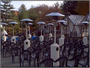 平昌五輪開幕式に一般観覧客座席の周辺にLPGヒーター40台を設置する予定だ。(写真=平昌組織委)
