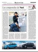 スペイン巡礼路で慰安婦問題を知らせ、現地新聞にのせられたパク・ハンビッヌリさん。