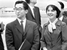 1963年、英親王夫婦の要請で夫の李玖氏(左)とともに韓国に来たジュリア夫人。彼らはこの時から昌徳宮楽善斎で暮らした。(写真=中央フォト)