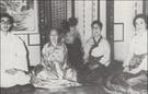 李玖夫婦の楽善斎時代の姿。左から李玖氏、純貞孝皇后尹氏、李方子女史、ジュリア・リー夫人。