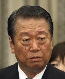 自由党の小沢一郎共同代表。