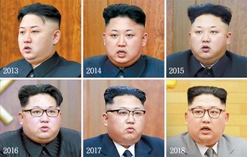 2日、米紙ニューヨーク・タイムズを通じて報じられた北朝鮮の金正恩労働党委員長の新年の挨拶のスタイル変遷。(写真=中央フォト)