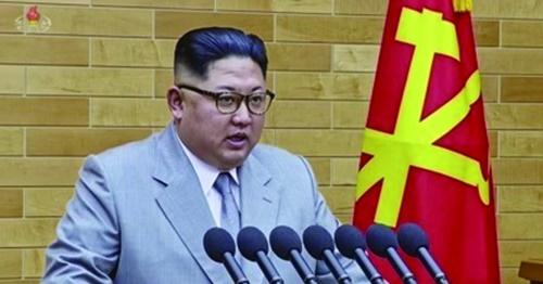 2018年1月1日新年の辞を通じて北朝鮮の平昌冬季五輪への参加意思を明らかにした金正恩委員長。