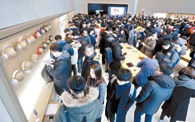 韓国に初めてのアップルストアがオープン。