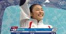 2010年バンクーバー冬季五輪で世界記録となる228.56を記録した後に喜ぶキム・ヨナ。(写真=IOCフェイスブック)