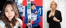 チェ・ダビン(韓国・フィギュア、写真左)、高梨沙羅(日本・スキージャンプ、写真中)、シリエ・ノレンダル(ノルウェー・スノーボード)