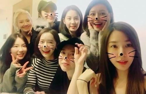 少女時代のメンバー(写真=ヒョヨンのSMS)